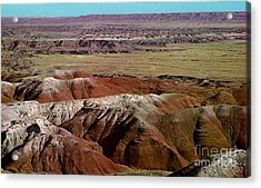 Painted Desert In Arizona Acrylic Print by Ruth  Housley