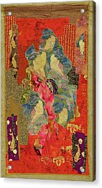 Painted Geisha Acrylic Print by Roberta Baker