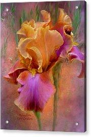 Painted Goddess - Iris Acrylic Print by Carol Cavalaris