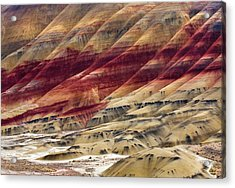 Painted Hills Contour Acrylic Print by Mike  Dawson