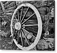 Painted Wagon Acrylic Print by Ed Boudreau