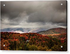 Painting The Hills In Autumn Colors Acrylic Print by Jeff Folger