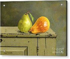 Pair Of Pears Acrylic Print by Sarah Batalka