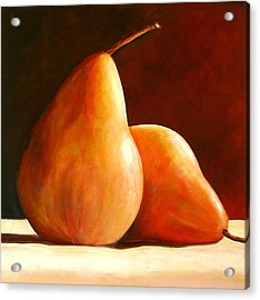 Pair Of Pears Acrylic Print by Toni Grote