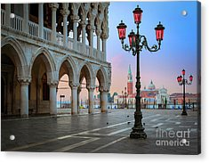 Palazzo Ducale Acrylic Print by Inge Johnsson