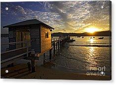 Palm Beach Sunset Acrylic Print by Avalon Fine Art Photography