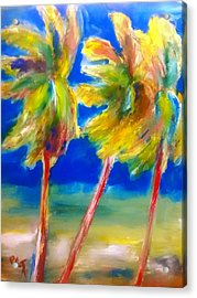 Palm Tree Color Acrylic Print by Patricia Taylor