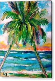Palm Tree Embrace Acrylic Print by Patricia Taylor