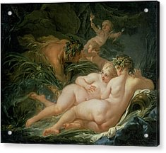 Pan And Syrinx Acrylic Print by Francois Boucher
