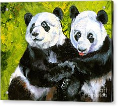 Panda Date Acrylic Print by Susan A Becker