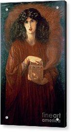 Pandora Acrylic Print by Dante Charles Gabriel Rossetti