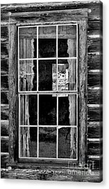 Panes To The Past Acrylic Print by Sandra Bronstein