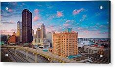 Panorama Of Pittsburgh  Acrylic Print by Emmanuel Panagiotakis