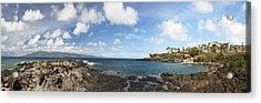 Panoramic Kapalua Beach Resort Acrylic Print by Dave Fleetham - Printscapes