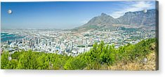 Panoramic View Of Cape Town And Table Acrylic Print by Panoramic Images