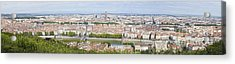 Panoramic View Of City Acrylic Print by Mikhail Lavrenov