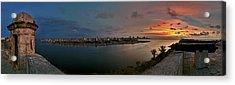 Panoramic View Of Havana From La Cabana. Cuba Acrylic Print by Juan Carlos Ferro Duque