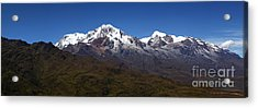 Panoramic View Of Mts Illampu And Ancohuma Acrylic Print by James Brunker