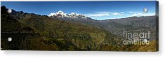 Panoramic View Of Northern Part Of Cordillera Real Bolivia Acrylic Print by James Brunker