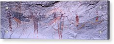 Panoramic View Of Petroglyphs Of Stick Acrylic Print by Panoramic Images