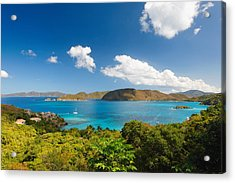 Panoramic View Of Trunk Bay Acrylic Print by George Oze