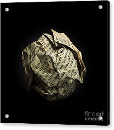 Paper Acrylic Print by Bernard Jaubert