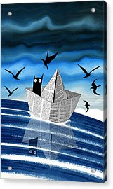 Paper Boat  Acrylic Print by Andrew Hitchen