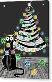 Paper Christmas Tree Acrylic Print by Andrew Hitchen