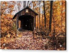 Pappy Hayes Covered Bridge Acrylic Print by Tom Mc Nemar