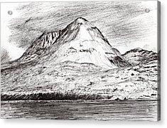 Paps Of Jura Acrylic Print by Vincent Alexander Booth