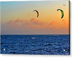 Para-surfing In Key West 003 Acrylic Print by George Bostian