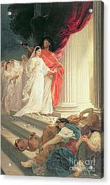 Parable Of The Wise And Foolish Virgins Acrylic Print by Baron Ernest Friedrich von Liphart