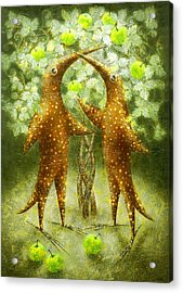 Paradise Apples Acrylic Print by Lolita Bronzini