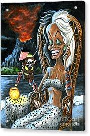 Paradise De Vil Acrylic Print by Mark Tavares