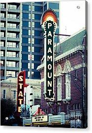 Paramount Theatre Austin Acrylic Print by Sonja Quintero