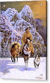 Pardners Acrylic Print by Howard Dubois