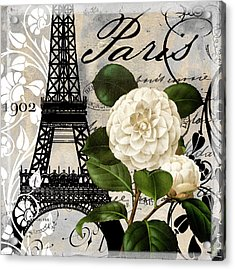 Paris Blanc I Acrylic Print by Mindy Sommers