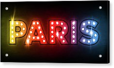 Paris In Lights Acrylic Print by Michael Tompsett
