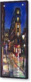 Paris Old Street Acrylic Print by Yuriy  Shevchuk