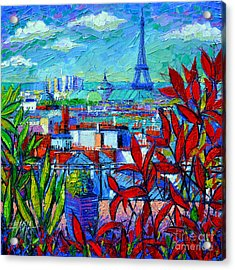 Paris Rooftops - View From Printemps Terrace   Acrylic Print by Mona Edulesco