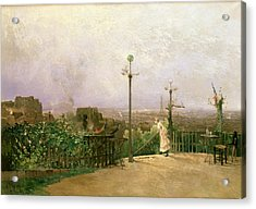 Paris Seen From The Heights Of Montmartre Acrylic Print by Jean dAlheim