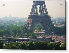 Paris Tour Eiffel 301 Pollution, Pollution Acrylic Print by Pascal POGGI