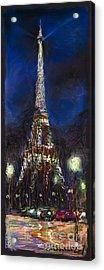 Paris Tour Eiffel Acrylic Print by Yuriy  Shevchuk