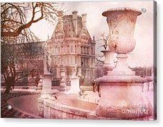 Paris Tuileries Park Garden - Jardin Des Tuileries Garden - Paris Tuileries Louvre Garden Sculpture Acrylic Print by Kathy Fornal