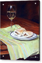 Parisian Lunch Acrylic Print by Jeanne Rosier Smith