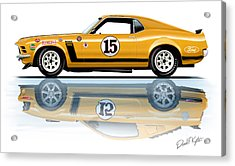 Parnelli Jones Trans Am Mustang Acrylic Print by David Kyte