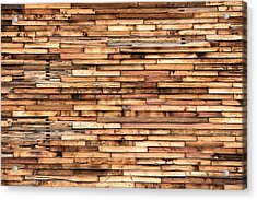 Parquet Wood Pattern Acrylic Print by Todd Klassy