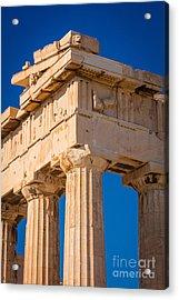 Parthenon Columns Acrylic Print by Inge Johnsson