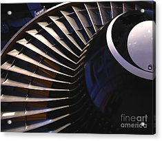 Partial View Of Jet Engine Acrylic Print by Yali Shi