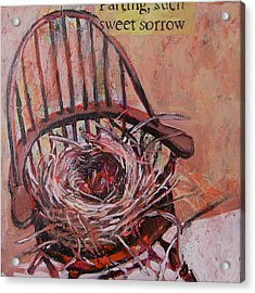 Parting Is Such Sweet Sorrow Acrylic Print by Tilly Strauss